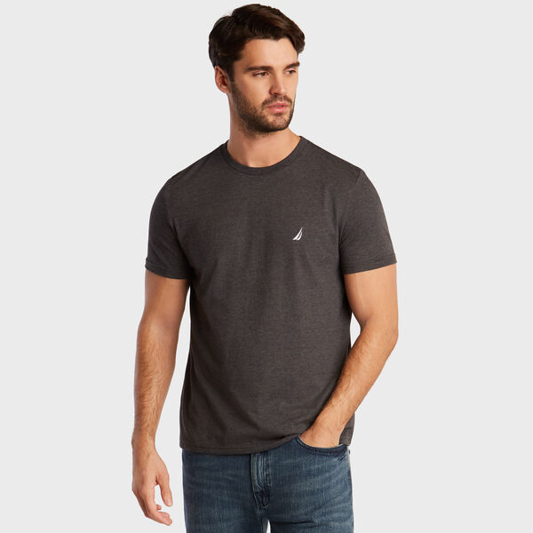HEATHERED CREWNECK T-SHIRT - Charcoal Heather