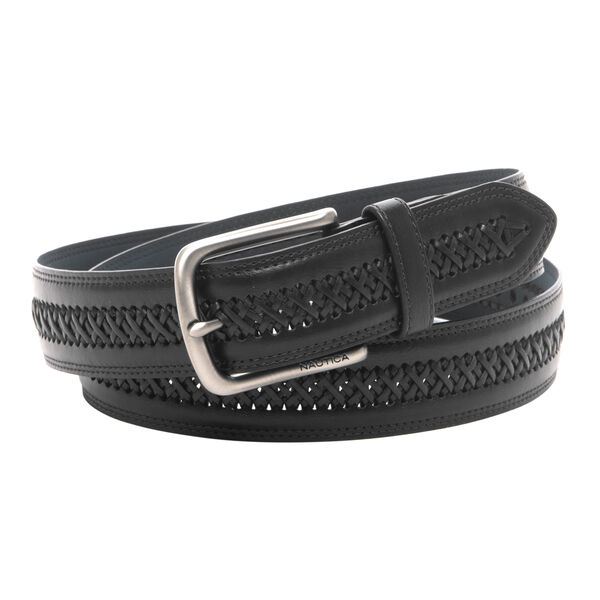 LACED LEATHER BELT - True Black