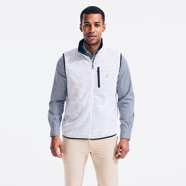 PERFORMANCE KNIT FLEECE VEST - Bright White