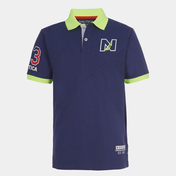 BOYS' EMBROIDERED LOGO PATCH HERITAGE POLO (8-20) - J Navy