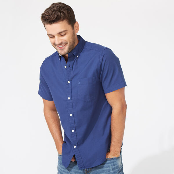 CLASSIC FIT STRETCH SHORT SLEEVE OXFORD SHIRT - J Navy