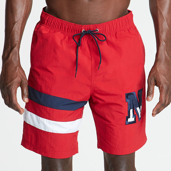 "8"" HERITAGE SWIM TRUNK - Nautica Red"