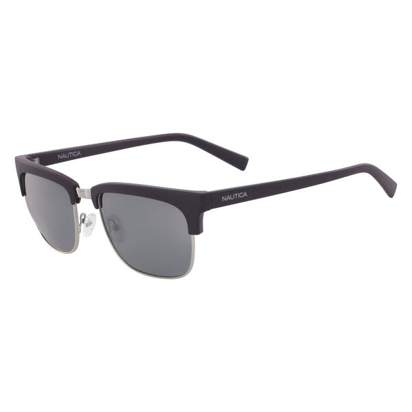 Retro Rectangular Sunglasses - Navy