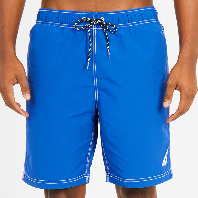 Big & Tall Anchor Full-Elastic Swim Trunks,Bright Cobalt,large