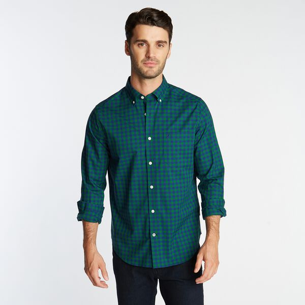 CLASSIC FIT WRINKLE-RESISTANT GINGHAM SHIRT - Spruce