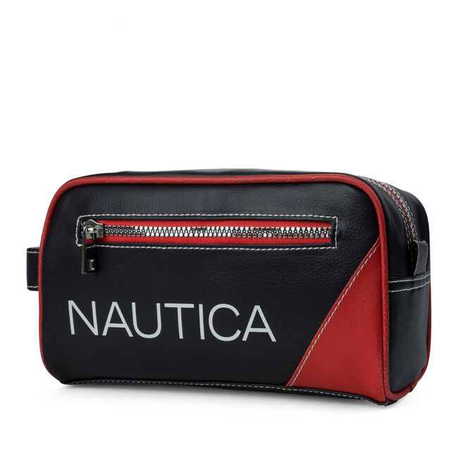 Core Pebbled Travel Kit,Nautica Red,large