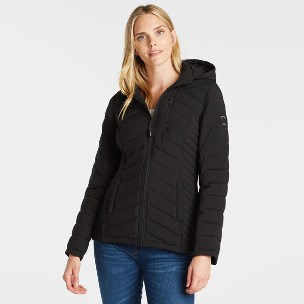 WOMEN'S SHORT STRETCH JACKET - True Black
