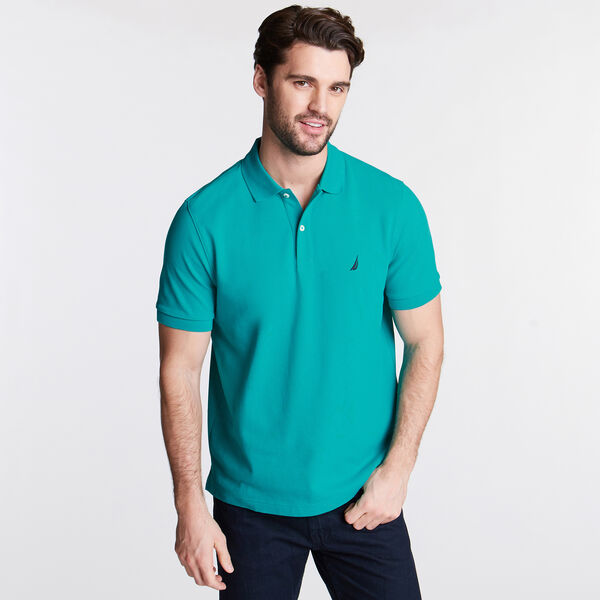 CLASSIC FIT DECK POLO - Gulf Coast Teal