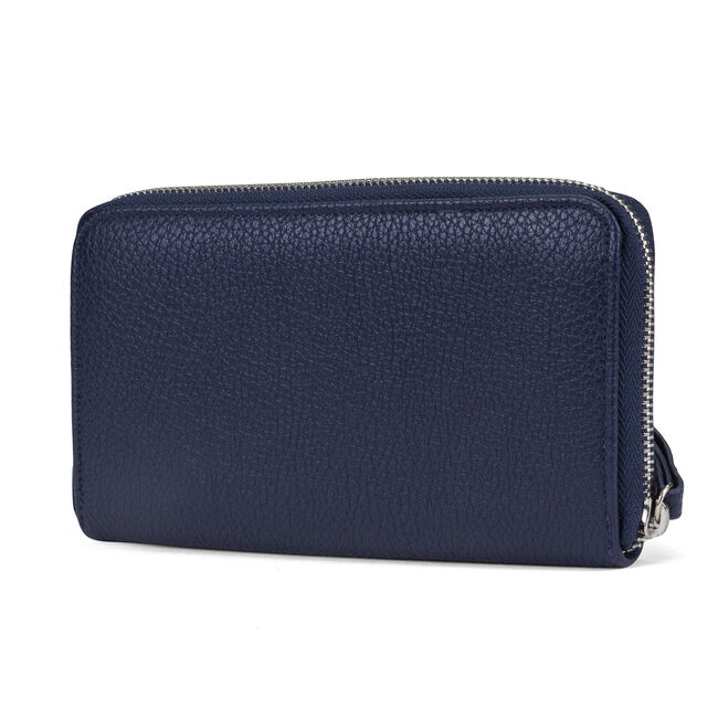 Plain Sailing Zip-Around Wristlet With Removable Pouch,Ice Blue,large