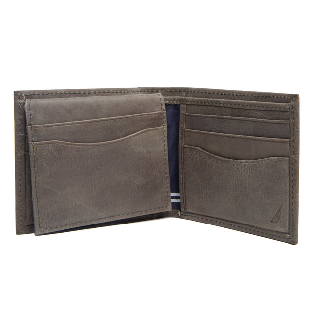 Claudio Fixed Passcase Wallet,Radial Grey,large