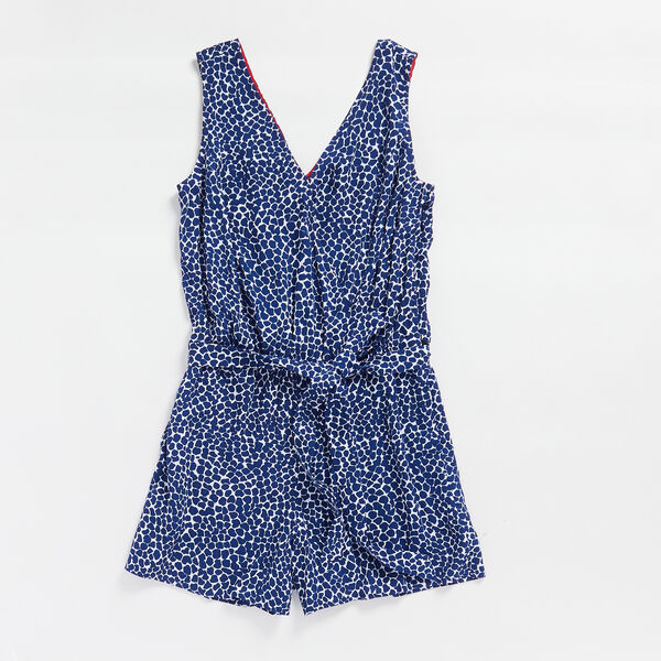 NAUTICA JEANS CO. PRINT WOVEN ROMPER - Blue Depths