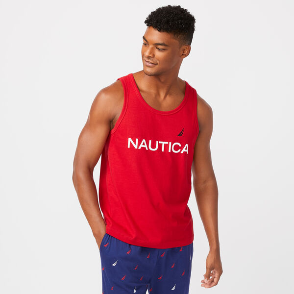LOGO GRAPHIC SLEEP TANK - Nautica Red