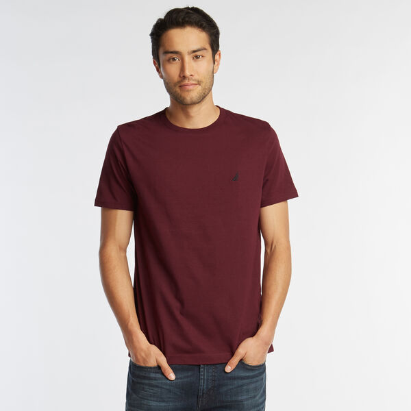 SOLID SHORT SLEEVE CREWNECK T-SHIRT - Royal Burgundy