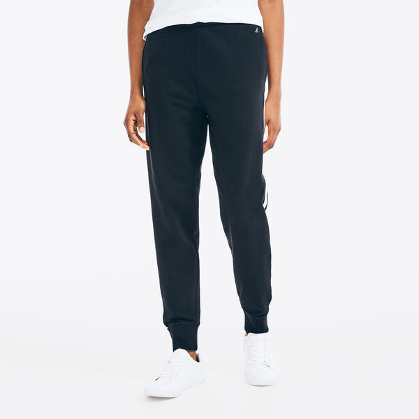 SUSTAINABLY CRAFTED SIDE STRIPE HIGH-WAIST JOGGER - True Black