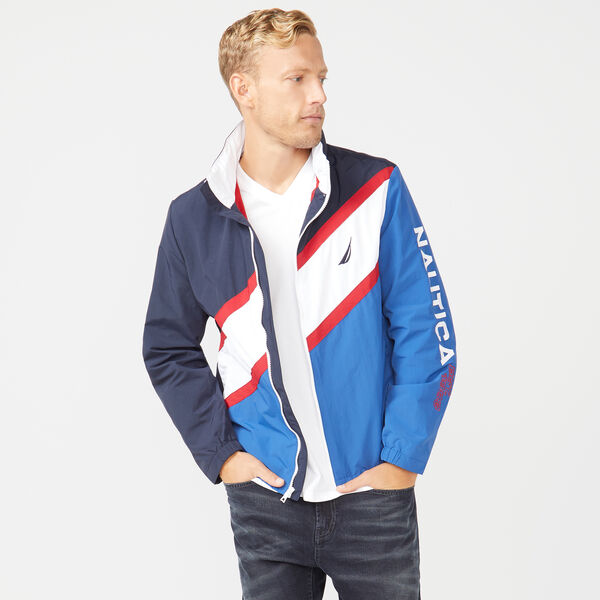 NAUTICA JEANS CO. LIGHTWEIGHT COLORBLOCK JACKET - Windsurf Blue