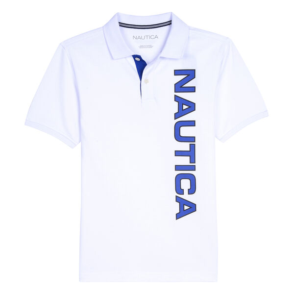 BOYS' ALVIN LOGO POLO - White