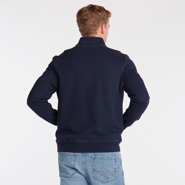 BIG & TALL QUARTER ZIP FLEECE PULLOVER,Pure Dark Pacific Wash,large