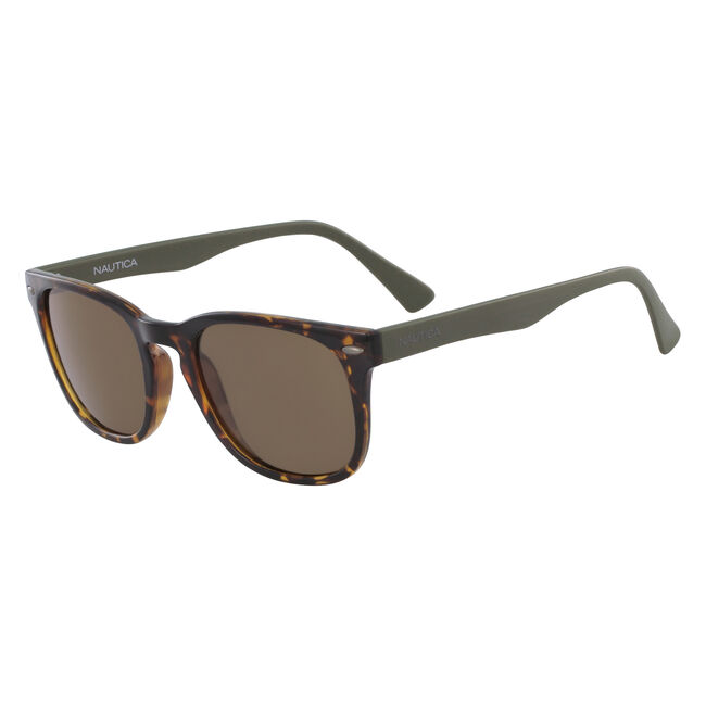 Squared Sunglasses with Tortoise Frame,Cream,large