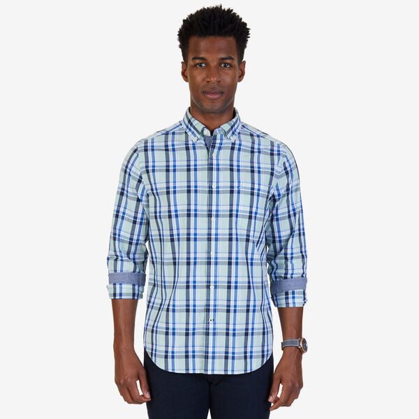 Plaid Poplin Classic Fit Button-Down Shirt - Flipper Jade