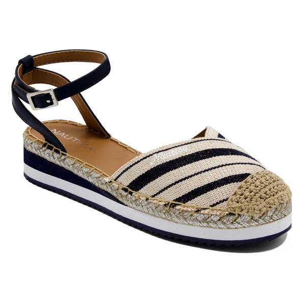 Nadana Espadrille Sandals in Stripe - Navy