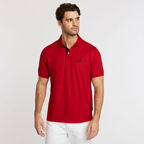 Classic Fit Solid Navtech Polo - Nautica Red
