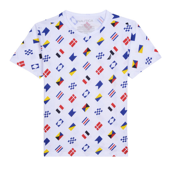 TODDLER BOYS' RANDOLPH AO T-SHIRT IN SIGNAL FLAG PRINT (2T-4T) - White