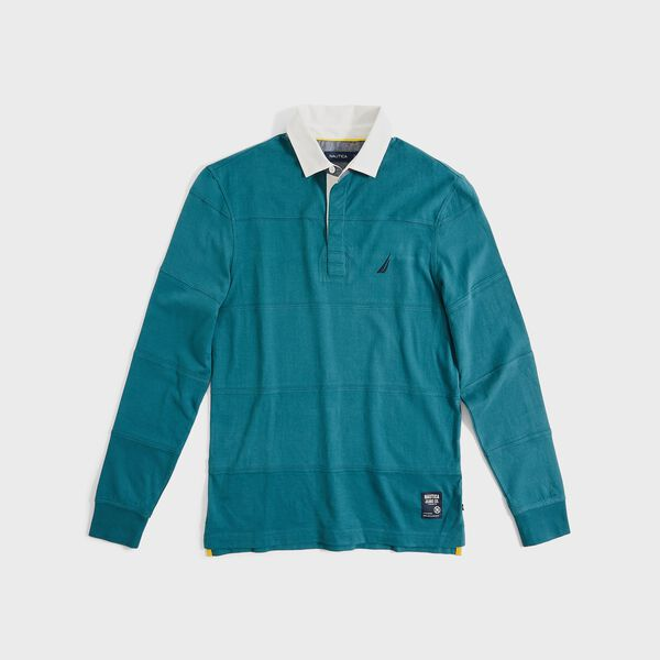 BIG & TALL CLASSIC FIT LONG SLEEVE RUGBY - Evergreen