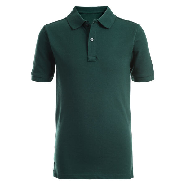 BOYS' PIQUE POLO (4-7) - Verdant Green