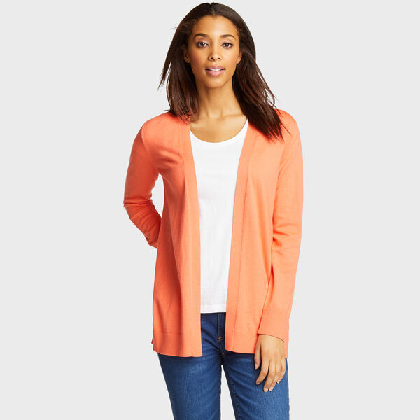 Classic Fit Open Cardigan - Vibe Orange