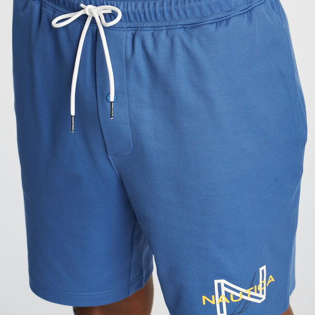 CLASSIC FIT SEA BREEZE LOUNGE SHORTS,Windsurf Blue,large