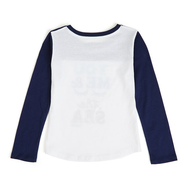Toddler Girls' You Me And The Sea Graphic Tee (2T-4T),Navy,large