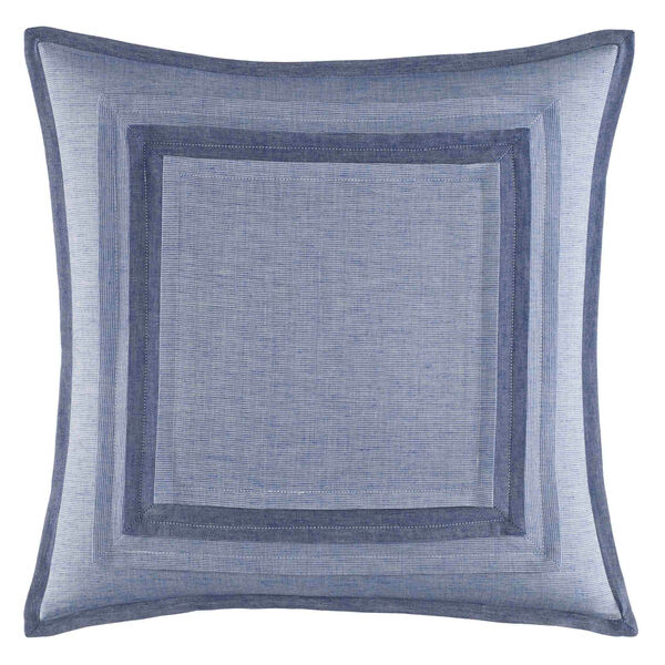 Waterbury Blue Square Pillow   - Navy
