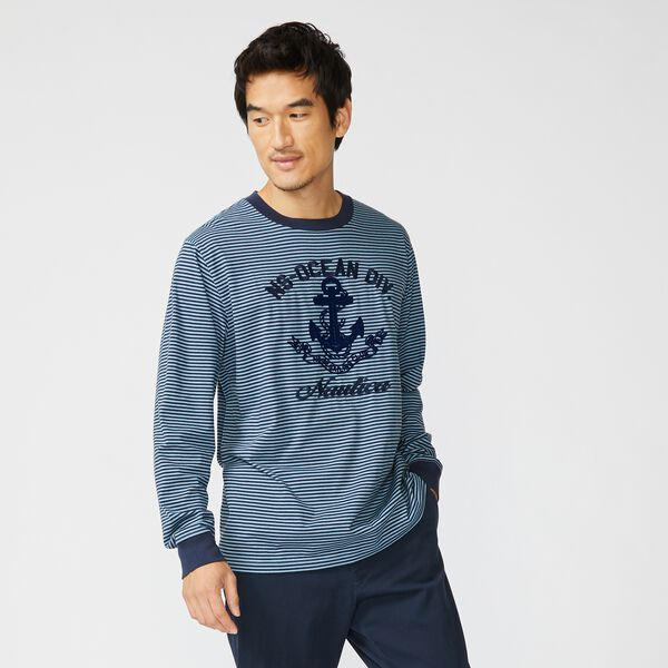 ANCHOR GRAPHIC LONG SLEEVE T-SHIRT - Aquadream