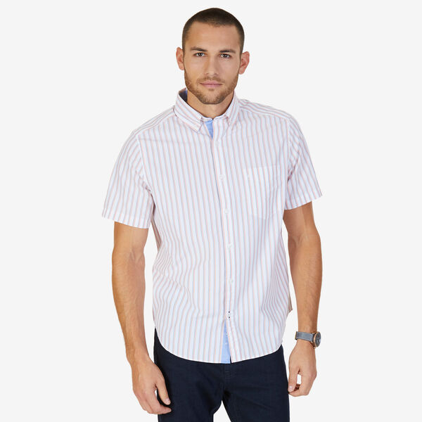 Shadow Stripe Classic Fit Button-Down Shirt - Coral Sands