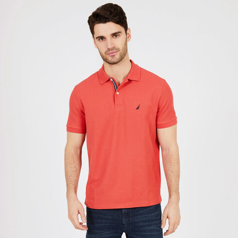 Short Sleeve Classic Fit Deck Polo - Crimson
