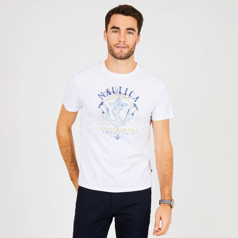 Mermaid Isle Crewneck T-Shirt - Bright White
