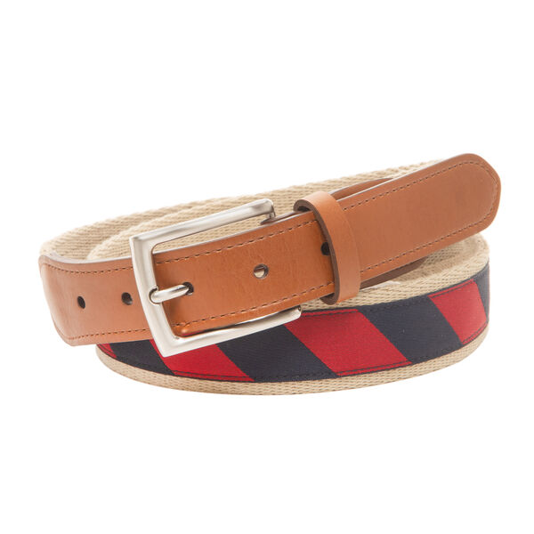 MIXED MEDIA BELT IN STRIPE - Nautica Red