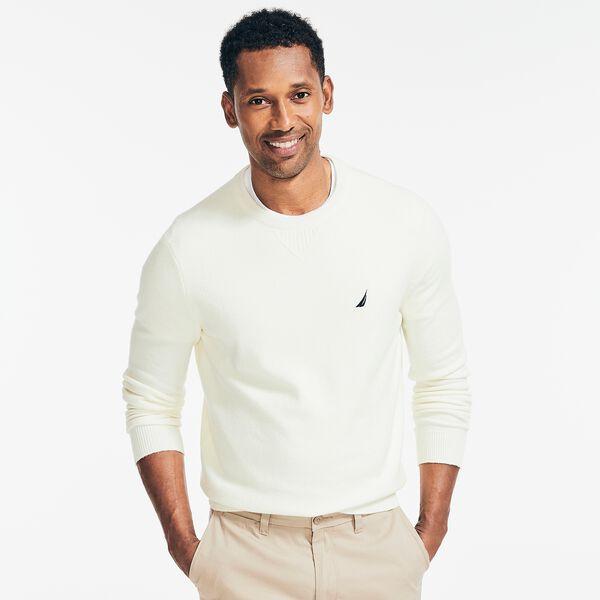 SUSTAINABLY CRAFTED CREWNECK SWEATER - Sail Cream