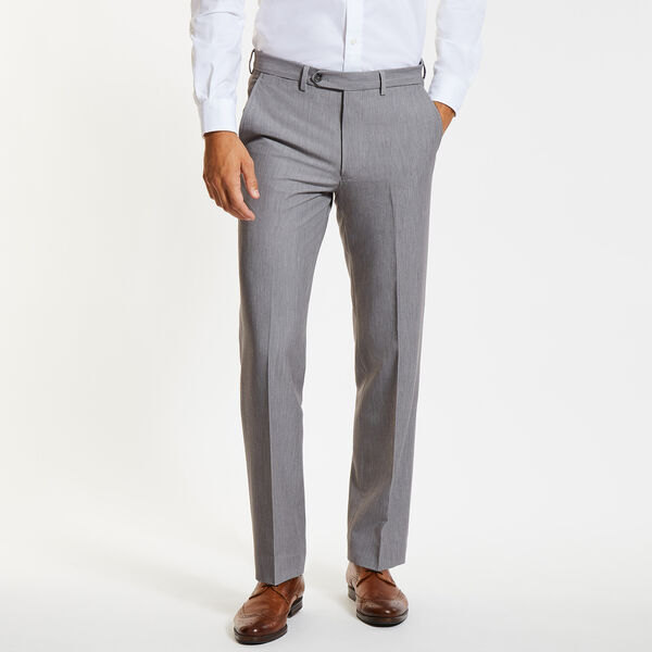 Flat Front Bi-Stretch Dress Pants - Moorings Grey Heather