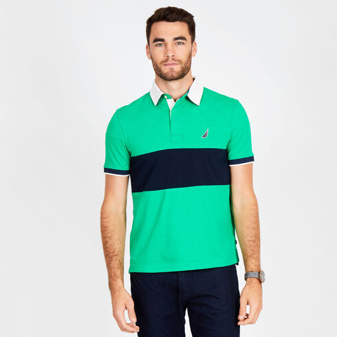 Big & Tall Short Sleeve Classic Fit Quilted Polo - Floating Moss