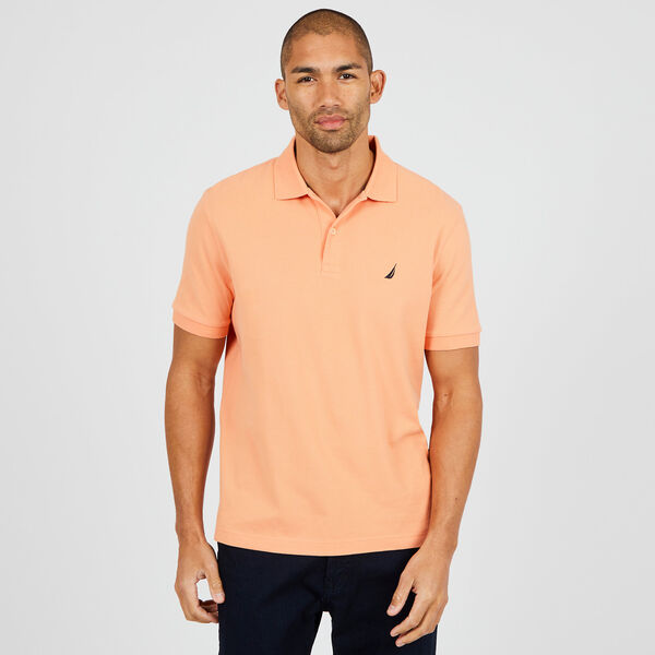 Classic Fit Mesh Polo - Orange