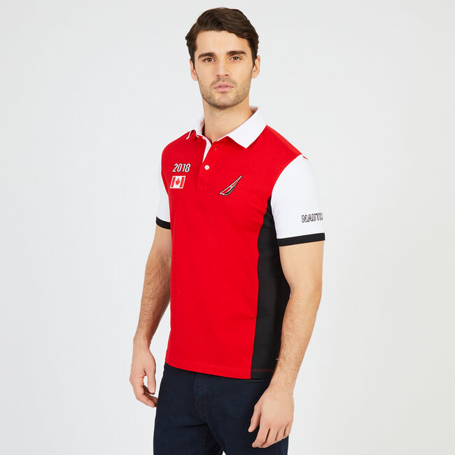 Slim Fit Canada Stadium Polo Shirt,Reckoning Red,large