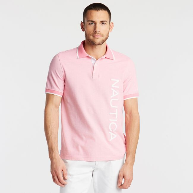 CLASSIC FIT LOGO OXFORD POLO,Carnation Pink,large