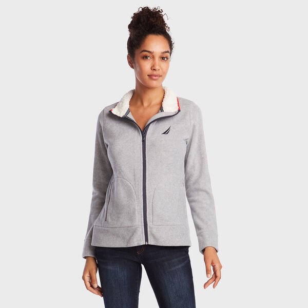 FULL ZIP NAUTEX FLEECE - Fog