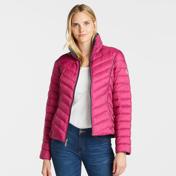 Reversible Packable Puffer Jacket - Magenta