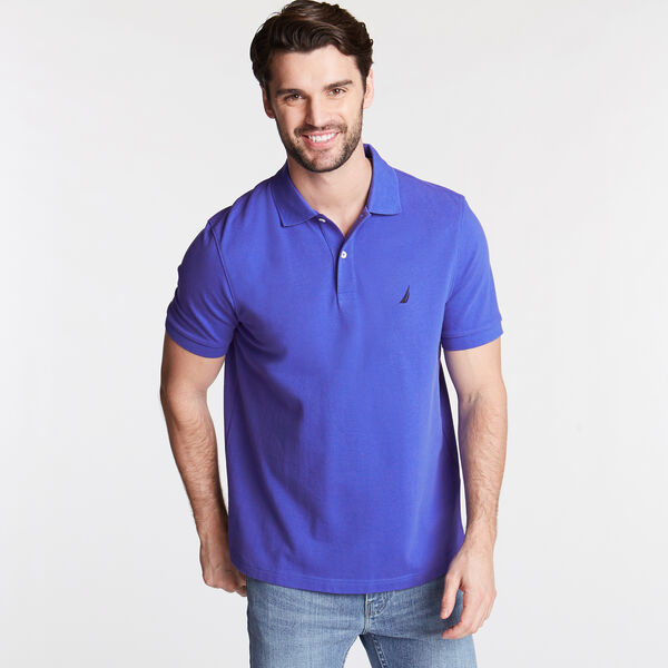 CLASSIC FIT DECK POLO - Cobalt Wave