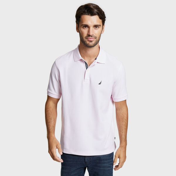 Classic Fit Solid Mesh Polo Shirt - Cradle Pink