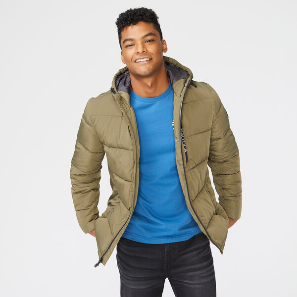 HOODED JACKET - Olive