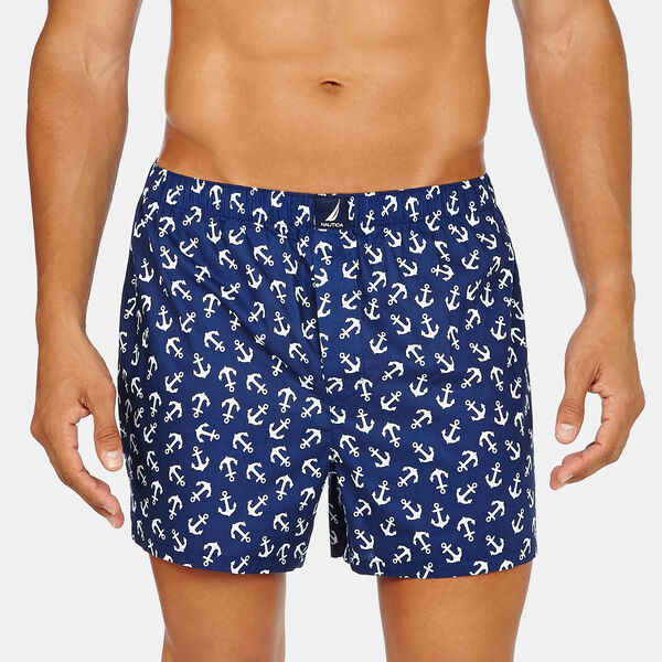 Woven Boxers - Journey Blue