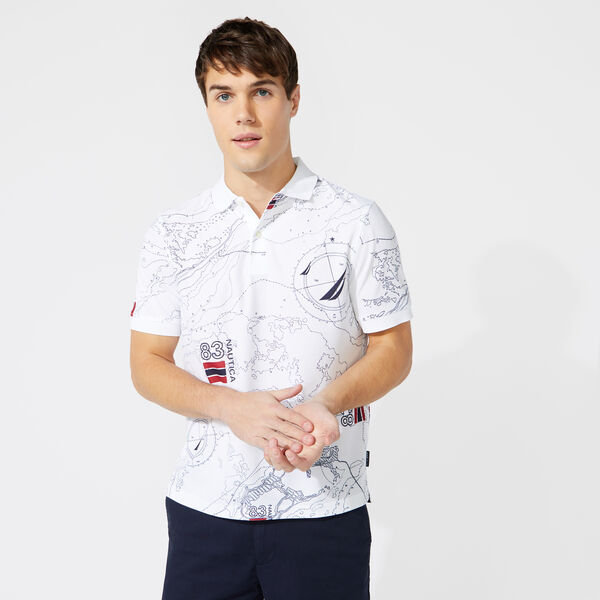 CLASSIC FIT PRINT POLO - Bright White
